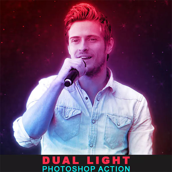 Dual light Photoshop Action Design