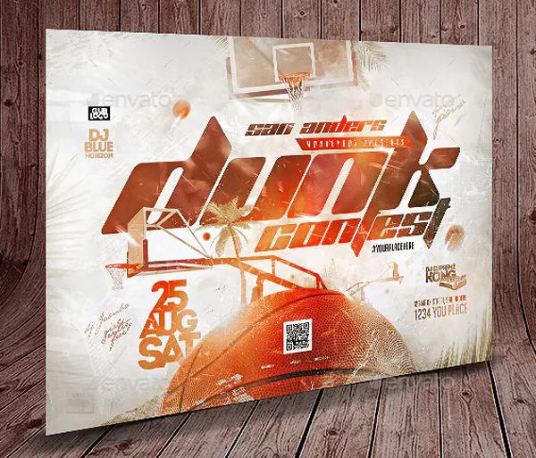 Dunk Contest Flyer Design
