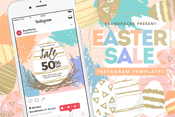 Easter Instagram Banner Templates