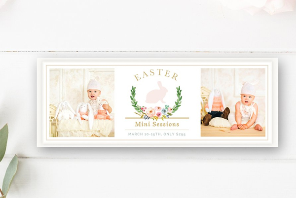 Easter Mini Session Facebook Banner
