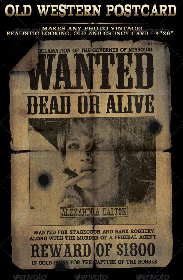 Easy to use Old Western Wanted Poster