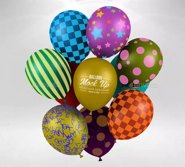 Editable Balloon Mockup