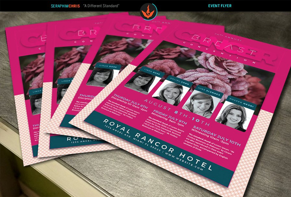 Editable Breast Cancer Flyer Template