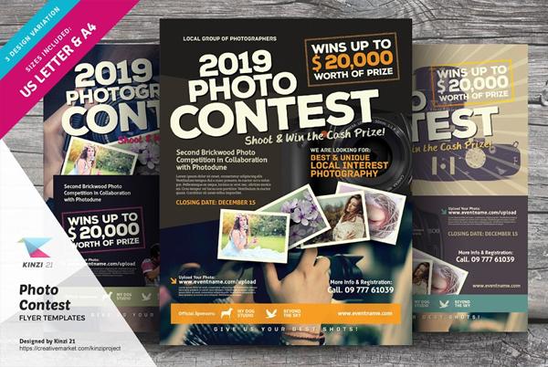 Editable Photo Contest Flyer Templates