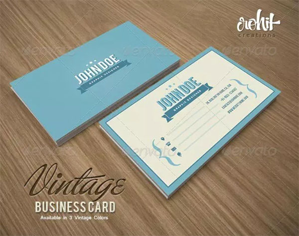 Editable Vintage Business Card
