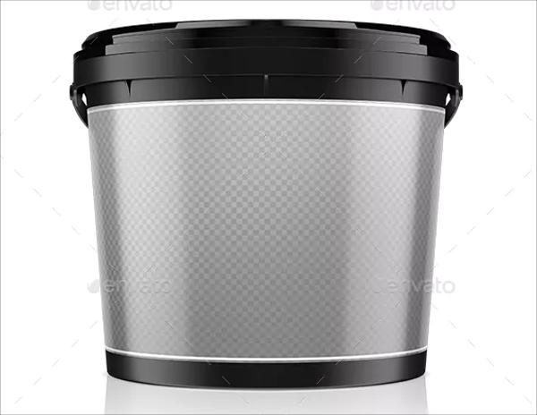 Empty Bucket Mockup