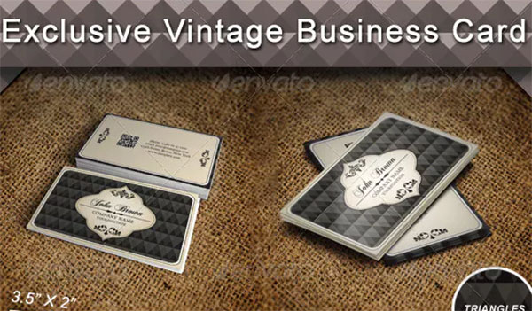 Vintage Exclusive Business Card