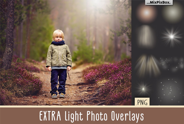 Extra Light Photo Overlays