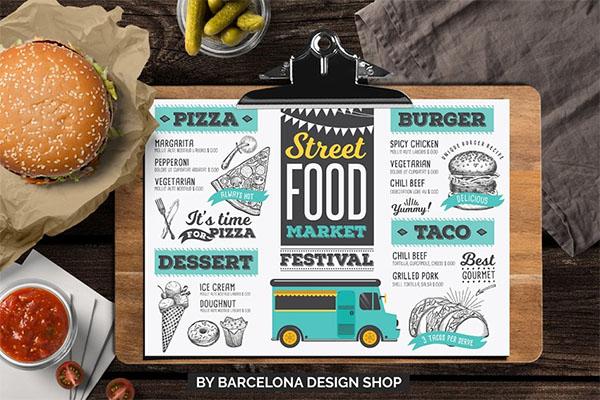 FREE! Trifold + Food Truck Menu Design
