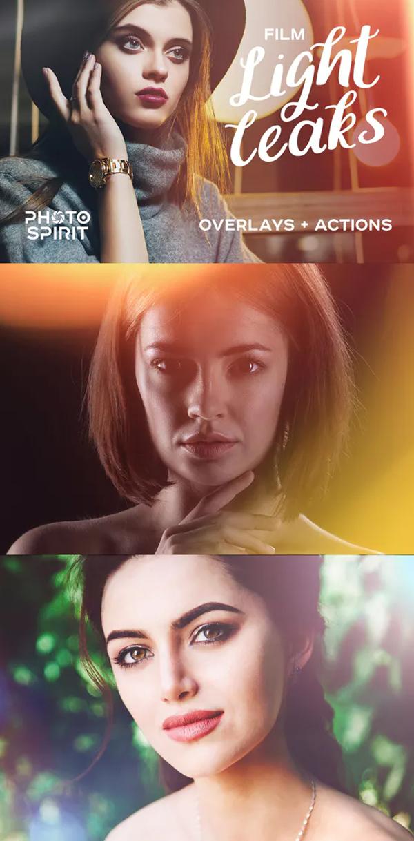 Film Light Leaks Photoshop Overlays