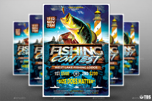 Fishing Flyer Template
