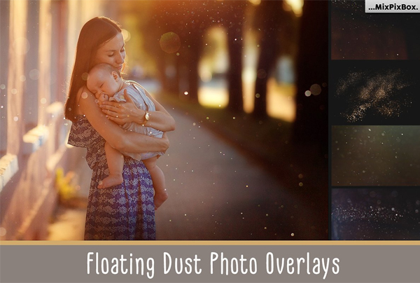 Floating Dust Photo Overlays