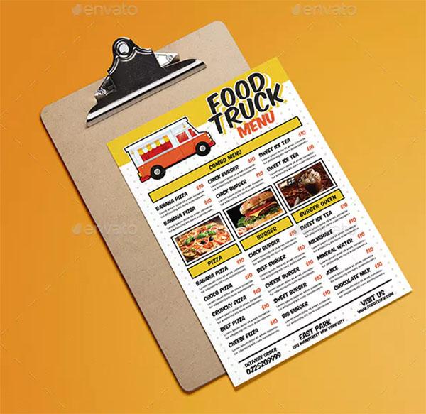 Food Truck Festival Menu