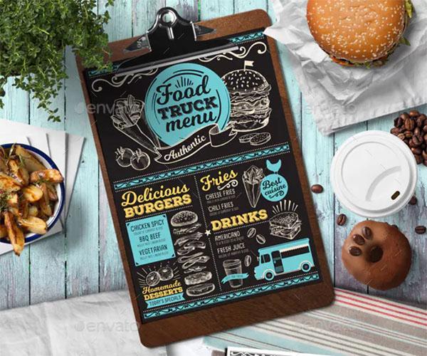 Food Truck Menu Design Template
