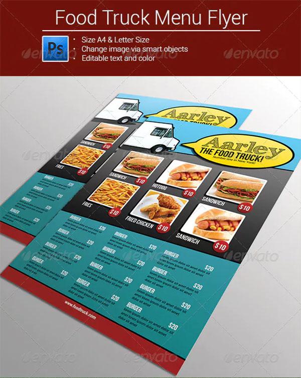 Food Truck Menu Flyer Template