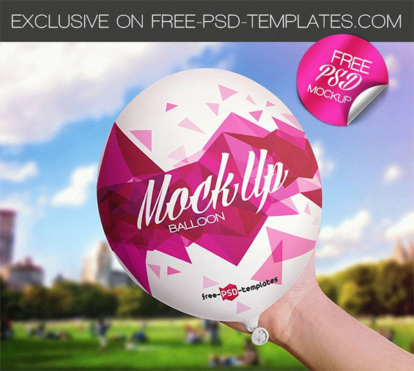 Free Balloon PSD Mockup