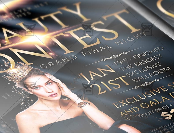 Free Beauty Contest Flyer Template