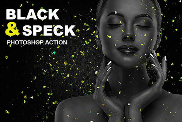 Free Black & Speck Photoshop Action