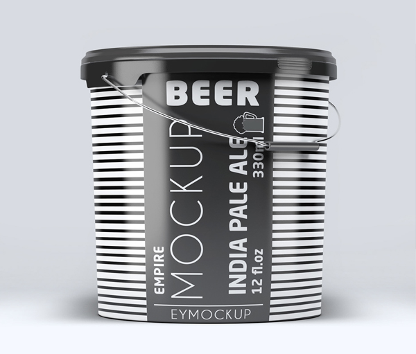 Free Buger Paint Bucket Mockup