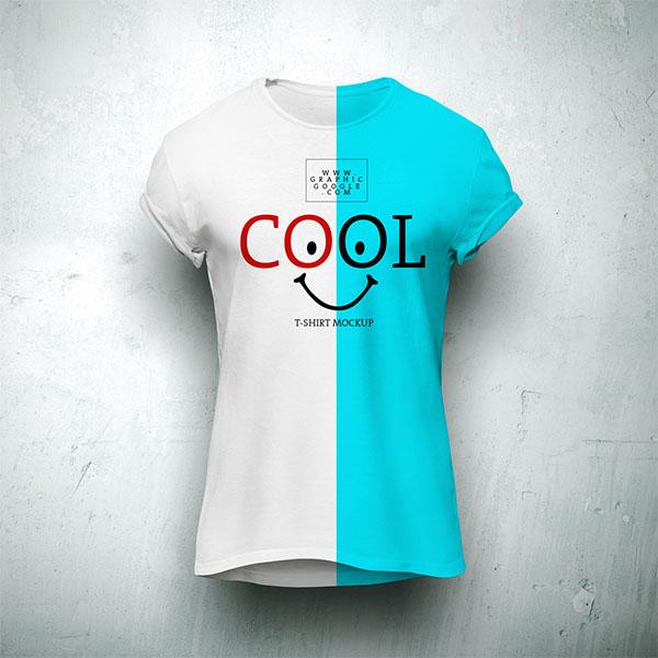 Free Cool T-Shirt MockUp For Branding