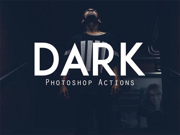 Free Dark Photoshop Actions