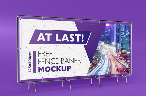 Free Download Photoshop Banner Mockup