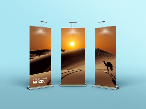 Free Download Rollup Banner Mockup