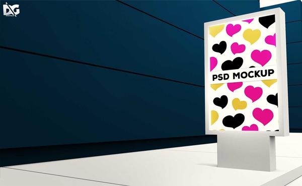 Free Download Standing Banner Branding PSD Mockup