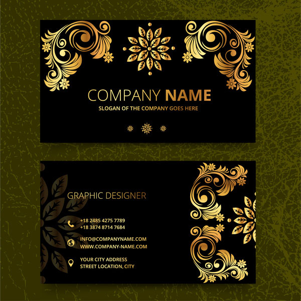 Free Elegence Vintage Business Card Templates