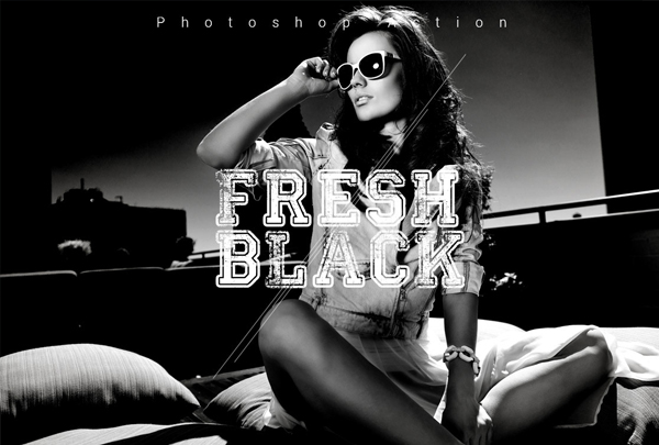 Free Download Fresh Black Photoshop Action