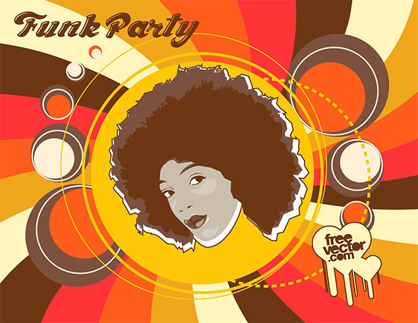 Free Funk Party Flyer Template