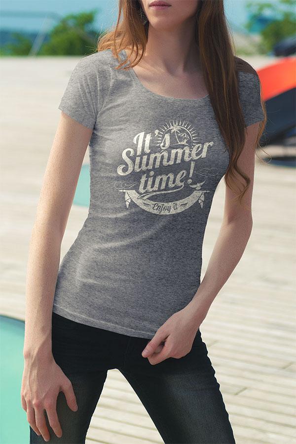Free Male & Female T-Shirt Mockup PSD Files