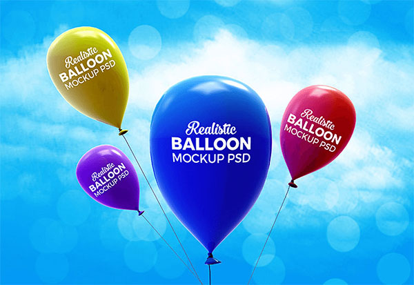 Free PSD Balloon Mockups