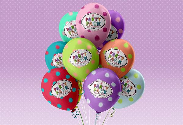 Free PSD Balloons Mockup