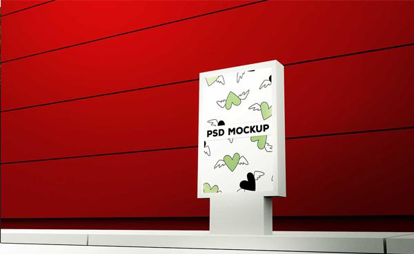 Free PSD Banner Branding Mockup