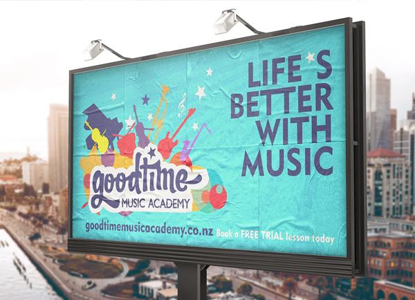 Free PSD Music Academy Banner Mockup