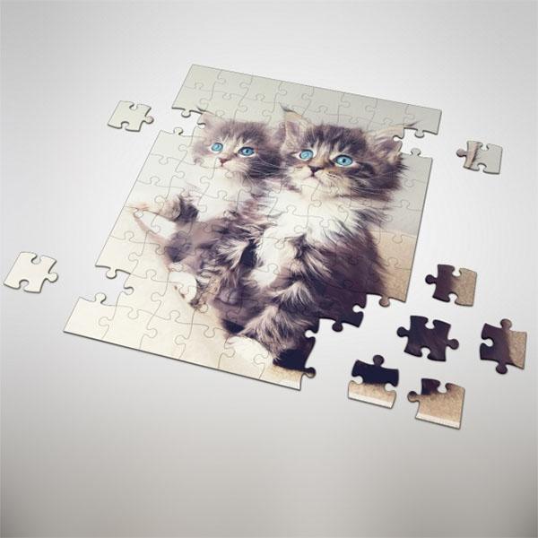 Free PSD Puzzle Mockup Design