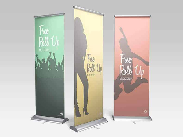 Free PSD Roll Up Banner Mockup
