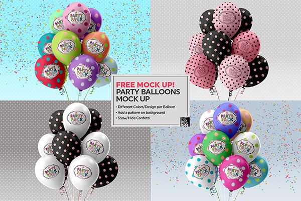 Free Party Pack Sample Mockups