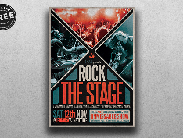 Free Rock Stage Flyer Template