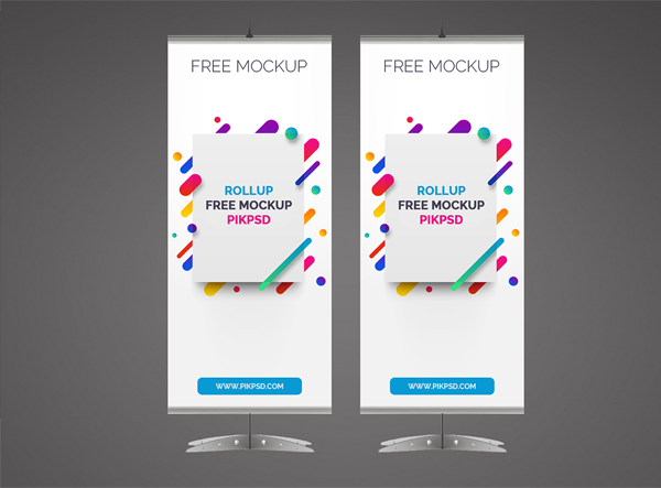 Free Rollup Banner Mockup Photoshop Template