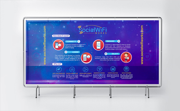 Free Stand Banner Mockup PSD Template