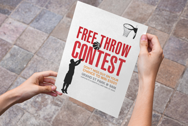 Free Throw Contest Poster