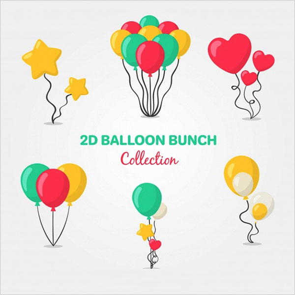 Free Vector Colorful Balloons Bunch