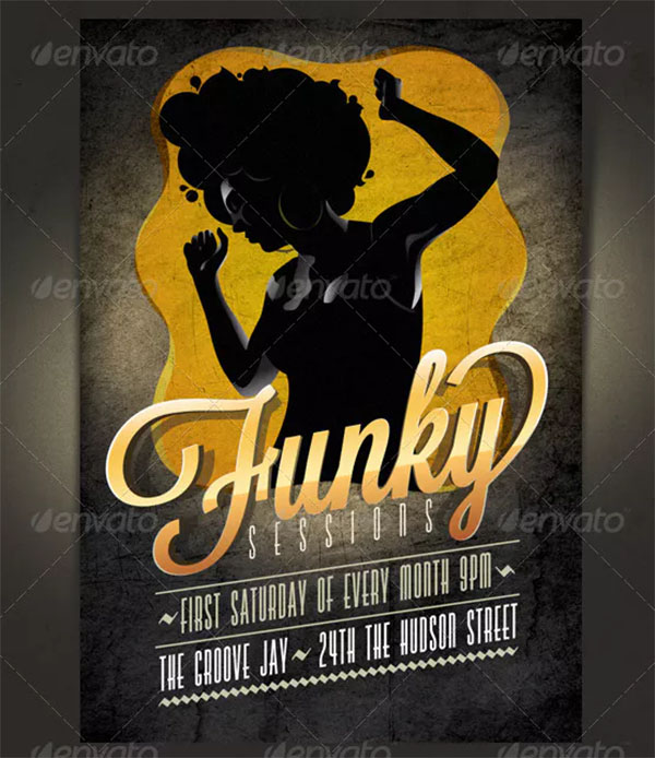 Funky Flyer and Invitation