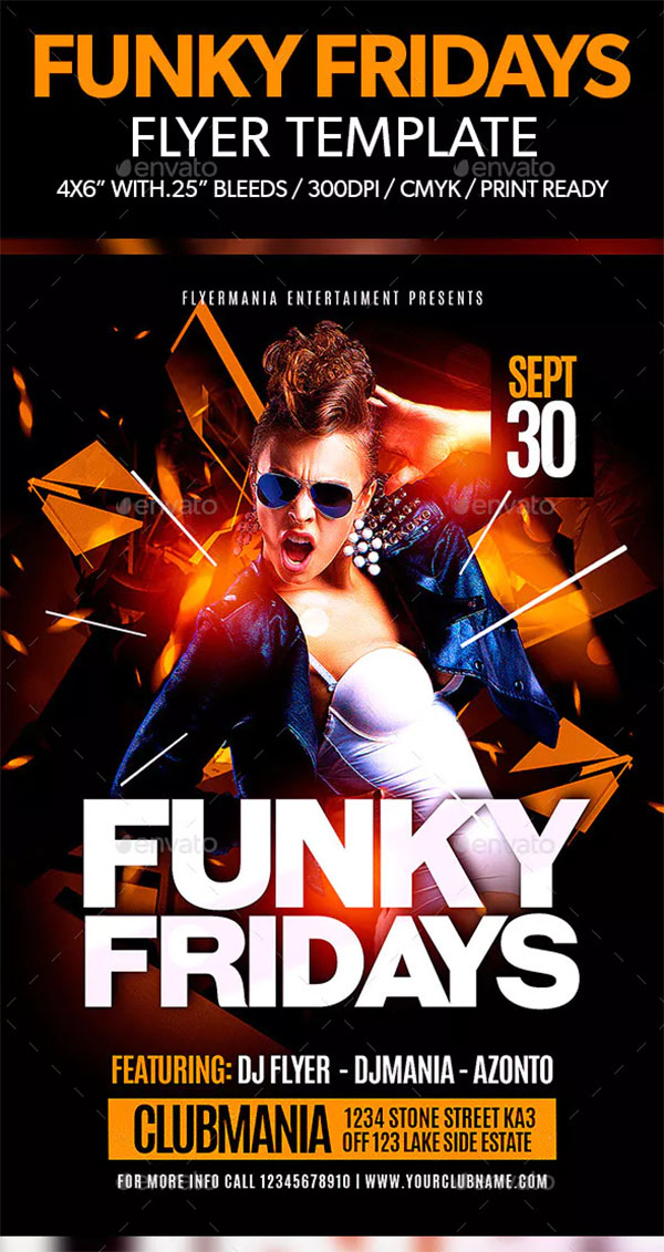 Funky Fridays Flyer Template