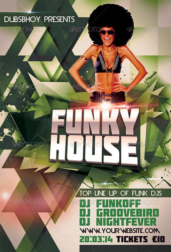 Funky House Flyer Design