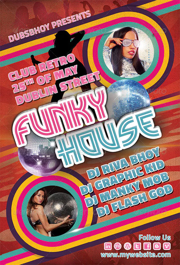 Funky House Flyer Template