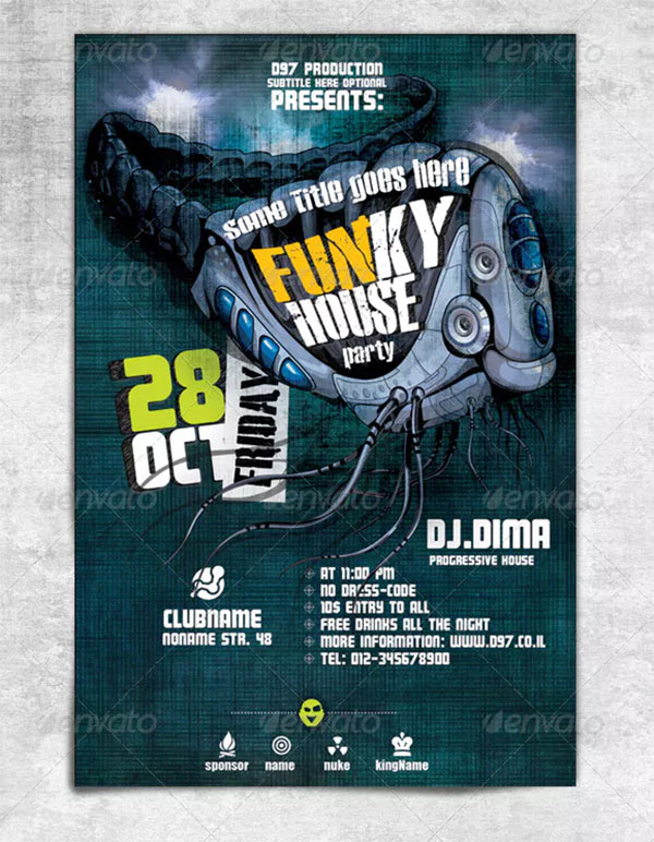 Funky House Flyer