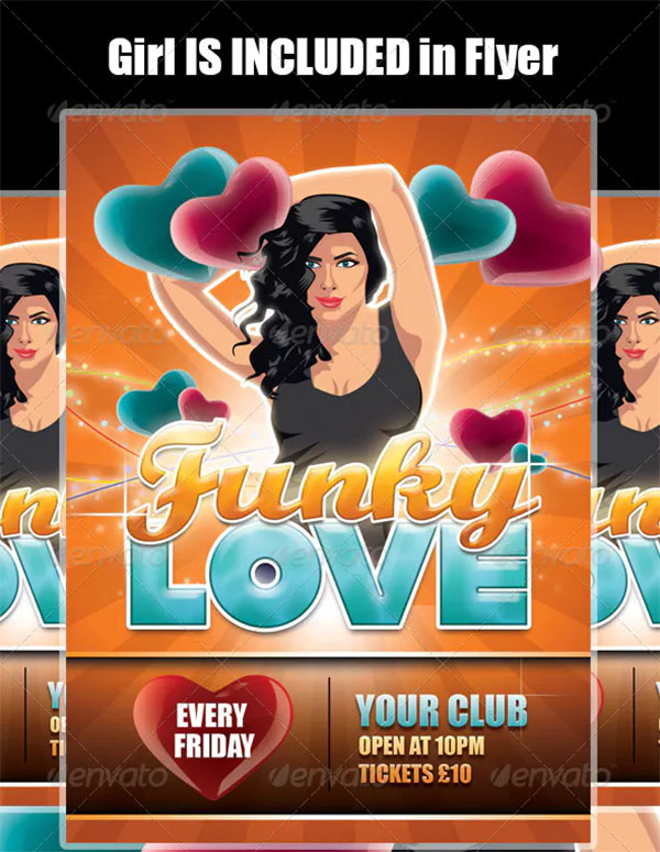 Funky Love Illustrated Flyer